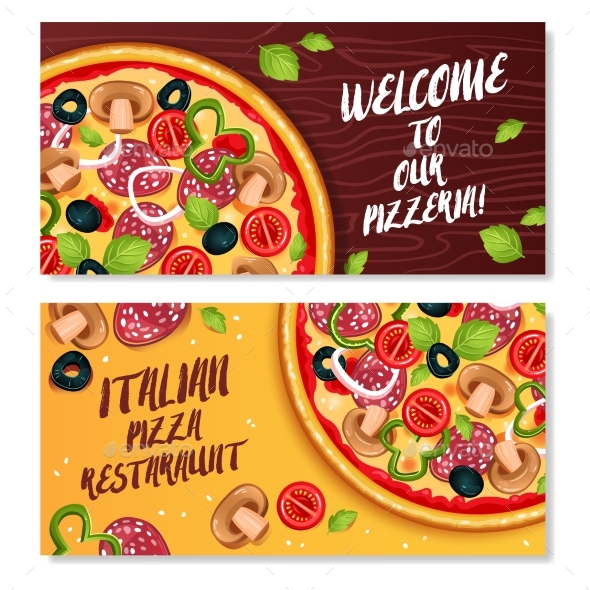 Italian Pizza Horizontal Banners - Services Commercial / Shopping