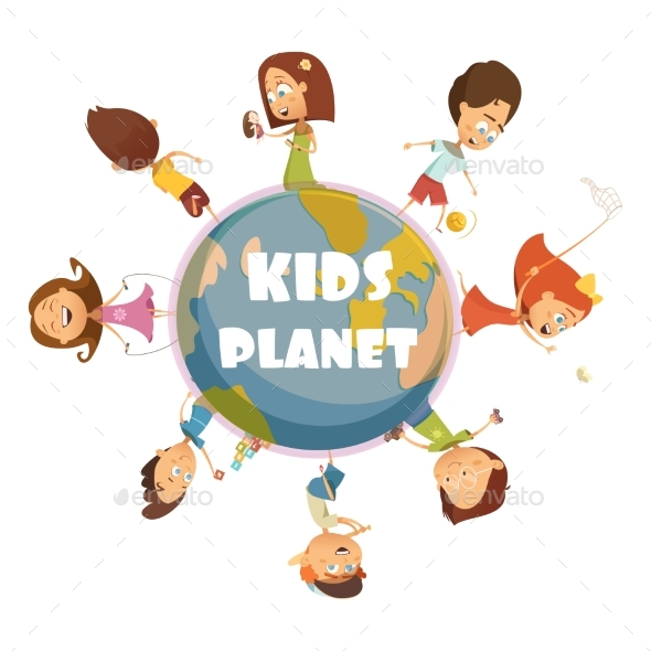 Playing Kids Concept - People Characters
