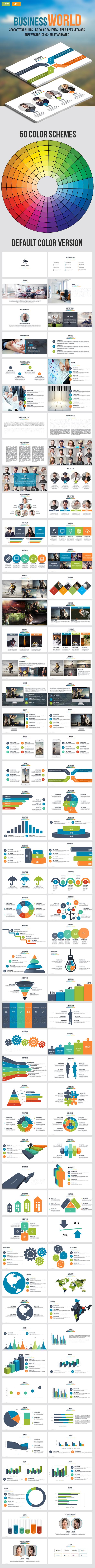 Business World - Multipurpose Powerpoint Template - Business PowerPoint Templates