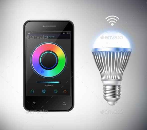 Smart Led Lightbulb - Technology Conceptual