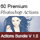 60 Premium Photoshop Actions-Bundle v1 - GraphicRiver Item for Sale