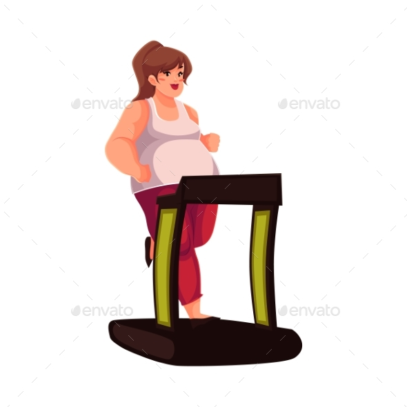 Woman Walking on The Treadmill Doing Cardio - Sports/Activity Conceptual