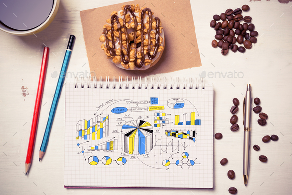 Sweet snack for new idea - Stock Photo - Images