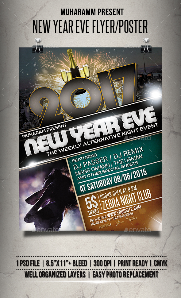 NYE Flyer / Poster - Events Flyers