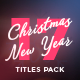 17 Christmas & New Year Titles - VideoHive Item for Sale