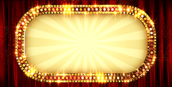 Retro Light Banner Frame by AS_100 | VideoHive