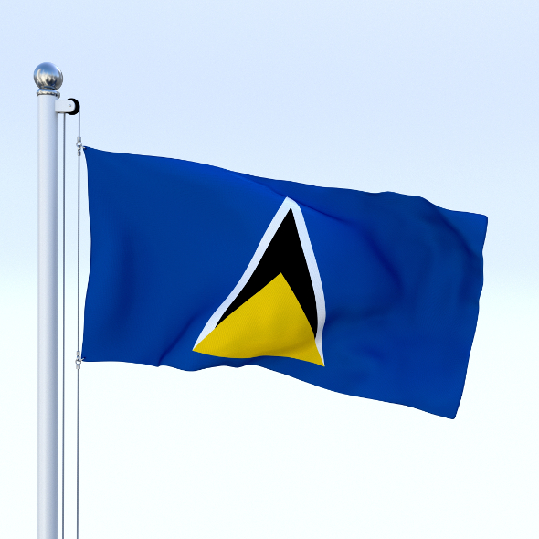 Animated Saint Lucia Flag - 3DOcean Item for Sale