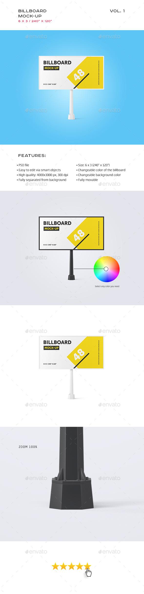 Studio Billboard Mock-up 6x3 vol.1 - Signage Print