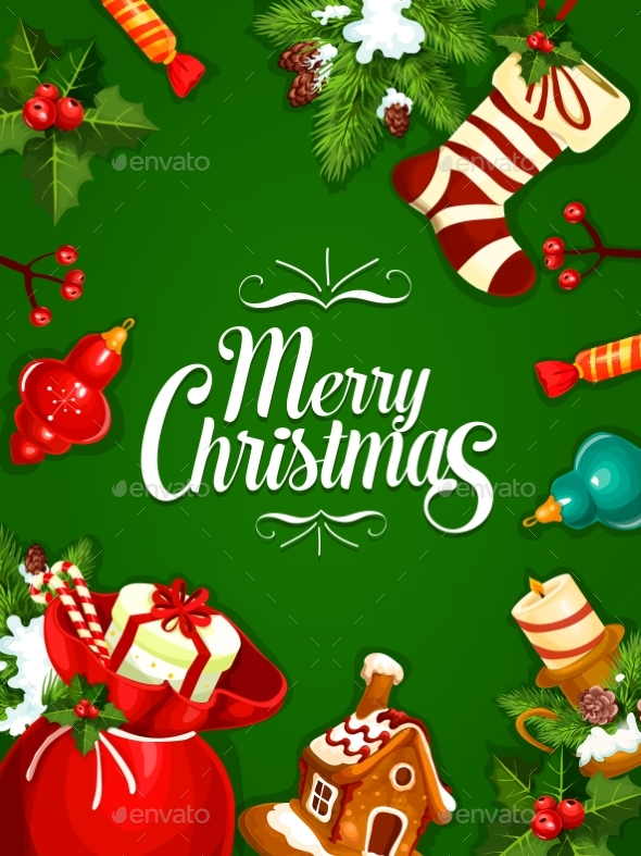 Christmas and New Year Greeting Card Design - Christmas Seasons/Holidays