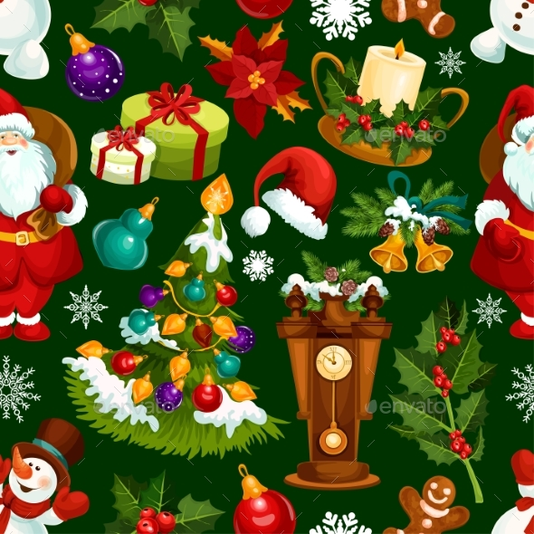 Christmas Holiday Seamless Pattern Background - Christmas Seasons/Holidays