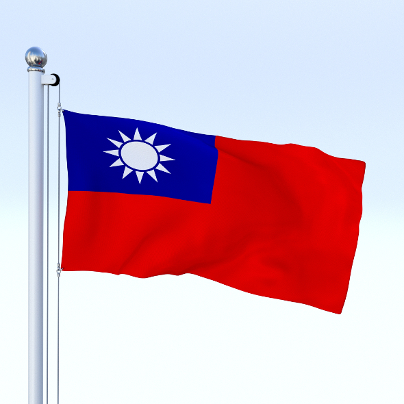 Animated Taiwan Flag - 3DOcean Item for Sale