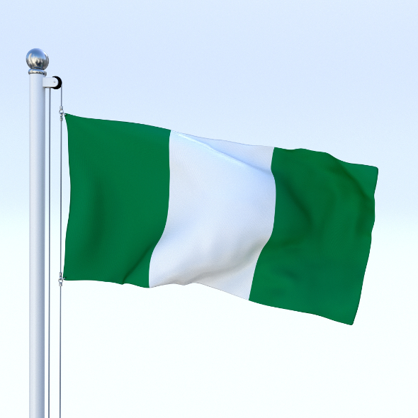 Animated Nigeria Flag - 3DOcean Item for Sale
