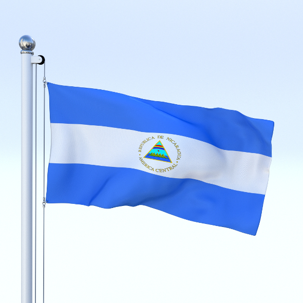 Animated Nicaragua Flag - 3DOcean Item for Sale