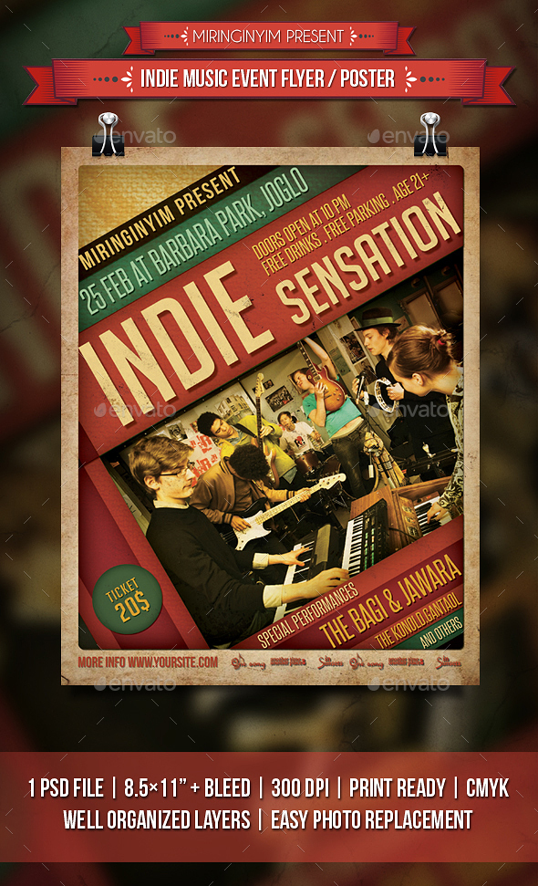 Indie Music Event Flyer / Poster - Events Flyers