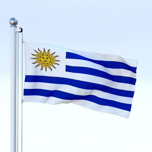 Animated Uruguay Flag - 3DOcean Item for Sale