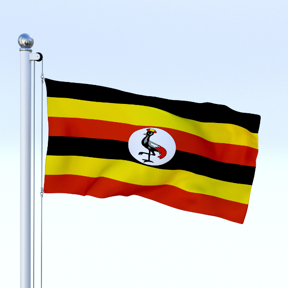 Animated Uganda Flag - 3DOcean Item for Sale