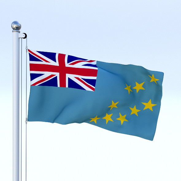 Animated Tuvalu Flag - 3DOcean Item for Sale