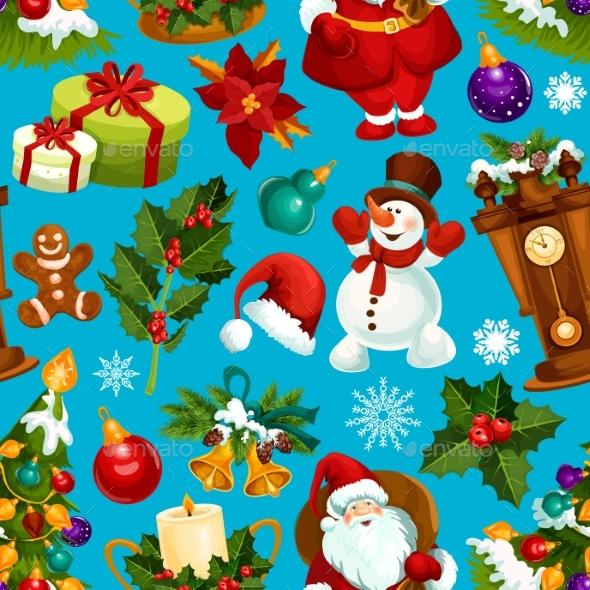 Christmas Seamless Pattern for Xmas Design - Christmas Seasons/Holidays