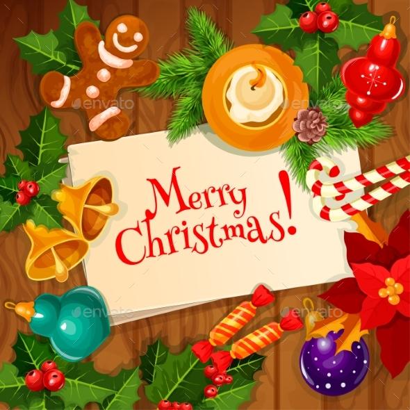 Christmas Day and New Year Greeting Card Design - Christmas Seasons/Holidays