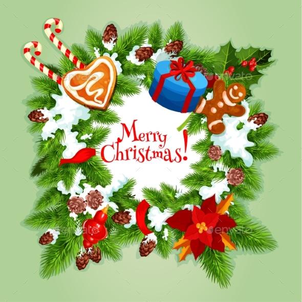 Christmas Day Greeting Card or Poster Design - Christmas Seasons/Holidays