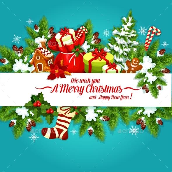 Christmas and New Year Holidays Poster Design - Christmas Seasons/Holidays
