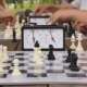 Chess Tournament In The Park On a Summer Day - VideoHive Item for Sale