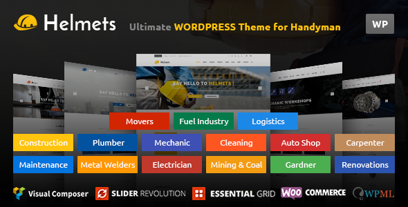 Helmets WordPress Theme for Handyman