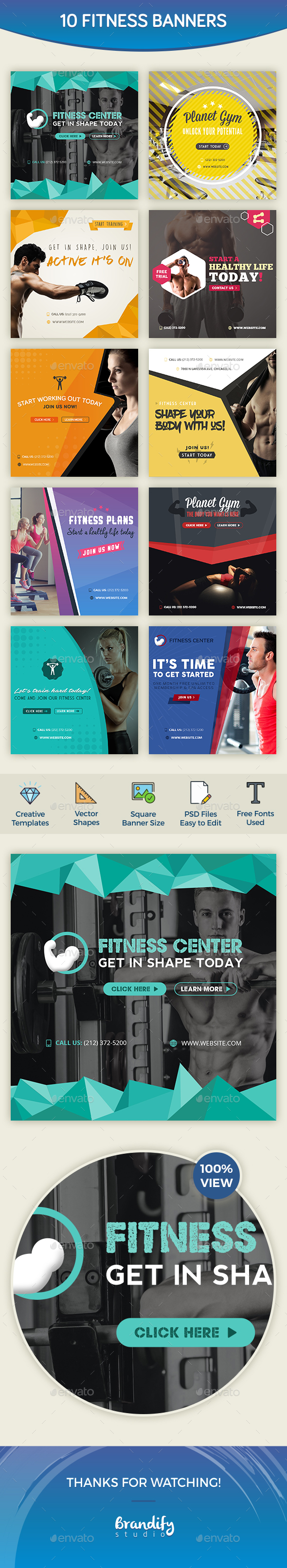 Fitness Banners - Social Media Web Elements