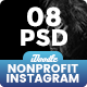 Charity / Nonprofit / Fundraising Instagram Ads - 08 PSD [NewSize]