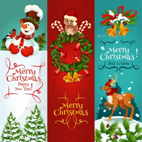 Christmas and New Year Festive Banner Set - Christmas Seasons/Holidays