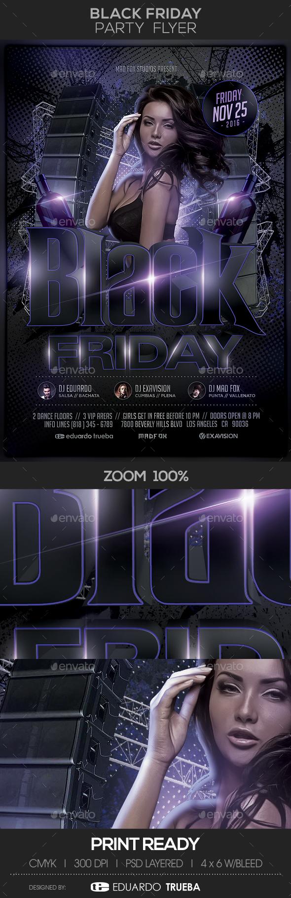 Black Friday Party Flyer - Flyers Print Templates