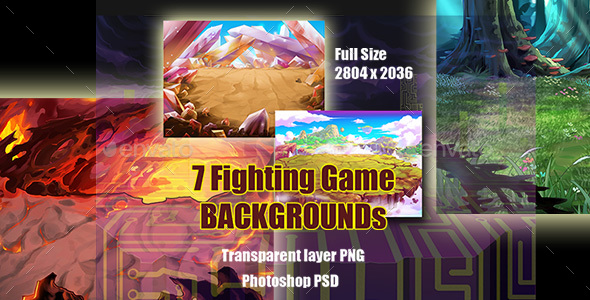 7 Fighting Game Backgrounds - Backgrounds Game Assets