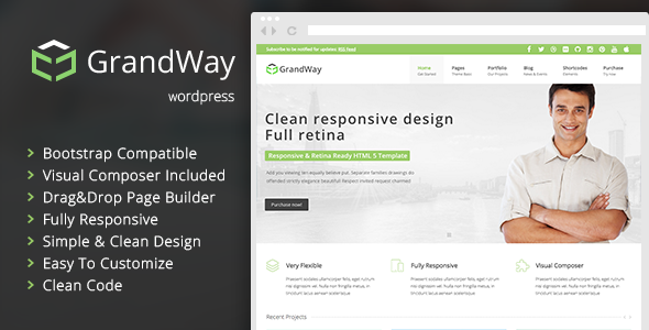 GrandWay - Clean and Professional Theme for WordPress - Business Corporate