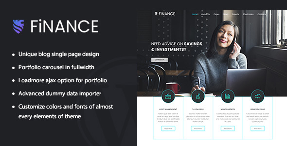 Finance | Multipurpose Money / Finance Theme