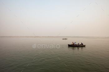 River boats in Varanasi, India