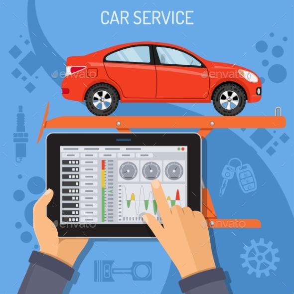 Car Service and Maintenance Concept - Concepts Business