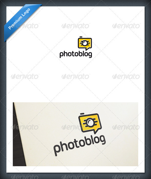 Photo Blog and Chat Logo Template - Objects Logo Templates
