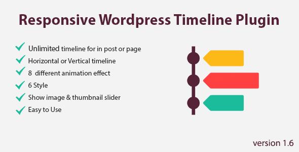 Flik Timeline – WordPress Responsive Timeline Plugin - CodeCanyon Item for Sale