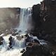 Thingvellir Waterfall Iceland. Autumn Landscape - VideoHive Item for Sale