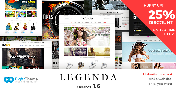 Legenda -Responsive Multi-Purpose Prestashop Theme 1.6 Theme + Blog