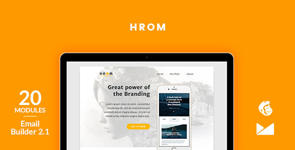 Hrom Email Template + Online Emailbuilder 2.1 - Newsletters Email Templates