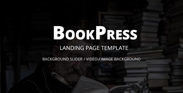Image of BookPress Landing Page Template