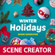 Winter Holidays scene generator - GraphicRiver Item for Sale