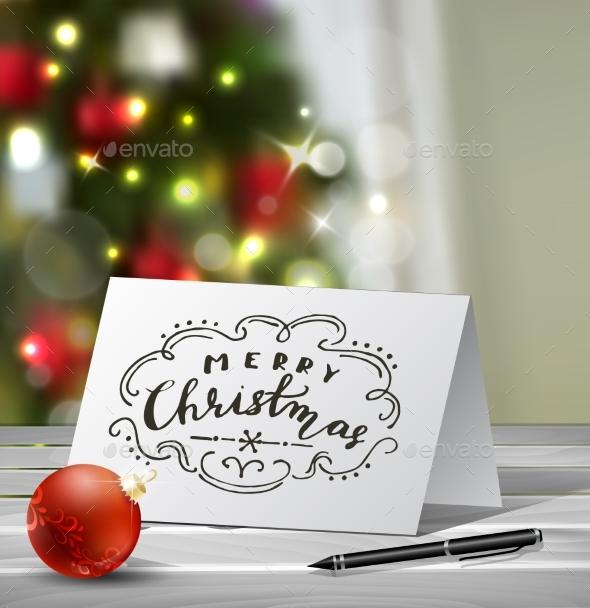 Christmas Greeting Card Mock Up - Christmas Seasons/Holidays