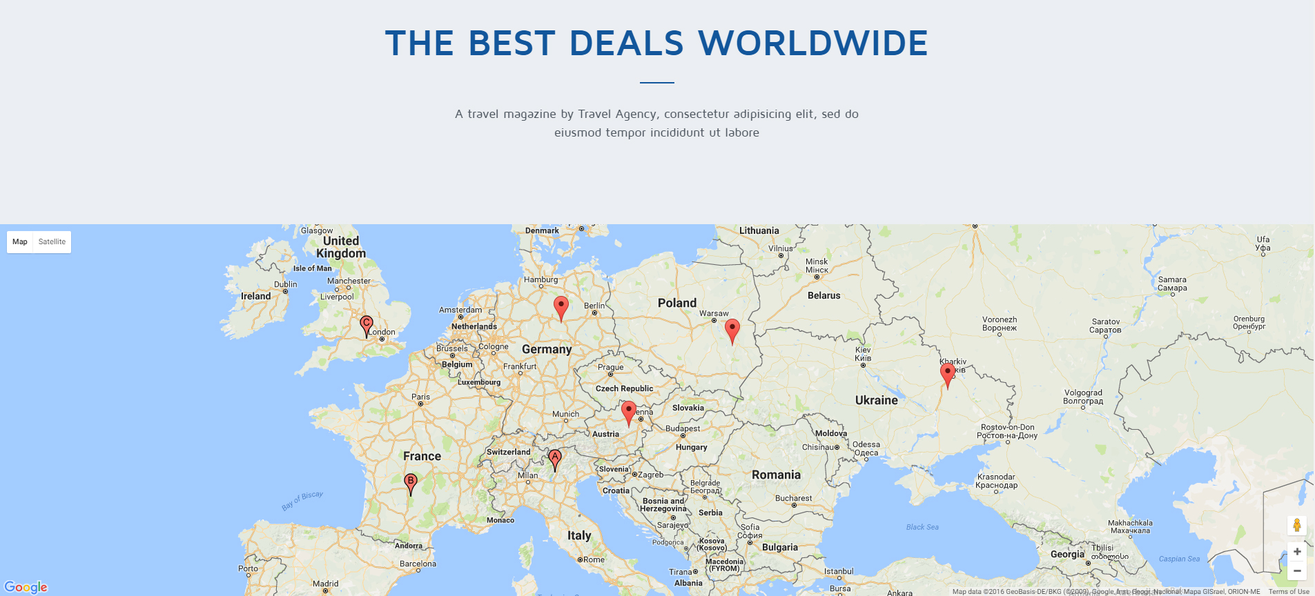 Travel Agency Tour Travel Hotel Booking HTML Template By Multidots - Germany map template