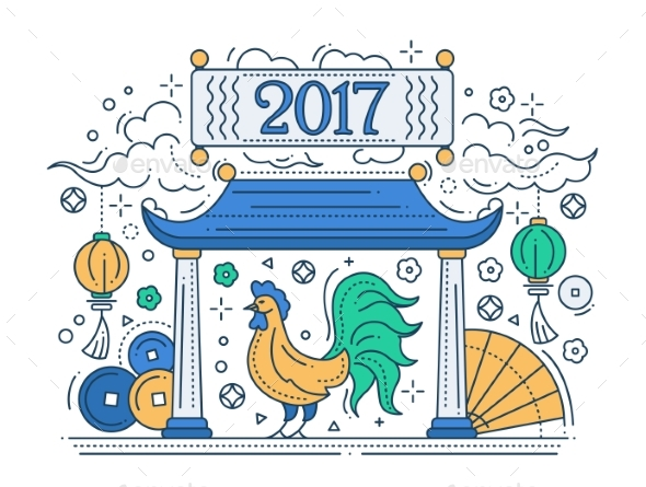 Happy New Year 2017 - Holiday Poster - New Year Seasons/Holidays