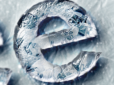 Ice Chrome Photoshop Layer Styles - Frozen Metal Text Effect