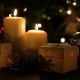 Christmas Gift Box And Candle With Light - VideoHive Item for Sale
