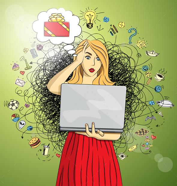 Woman Buy Christmas Gifts Online - Christmas Seasons/Holidays