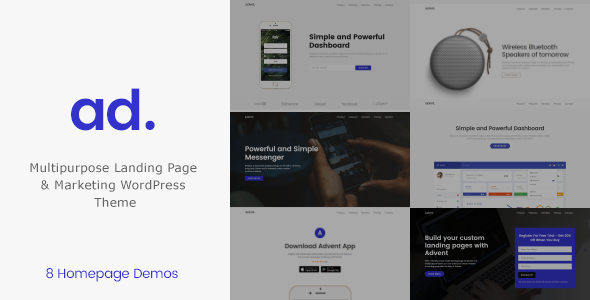 Advent - Multipurpose  Landing Page & Marketing WordPress Theme